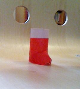 クリスマス折り紙ブーツ1