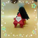 クリスマスに折り紙で簡単サンタさん 全身を1枚で!小学校中学年~
