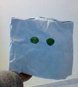鬼のお面 紙袋2