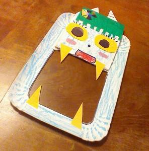 鬼のお面 紙皿3