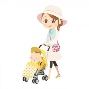 赤ちゃんの散歩時の紫外線対策!ベビーカーでも日焼け止めっている?