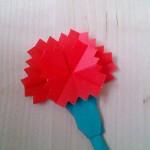 母の日のためのカーネーションの折り紙の折り方♪簡単・子供でもOK