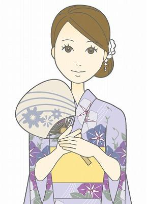 浴衣の髪型アレンジ簡単 ロング編☆アップなら?前髪なしなら?