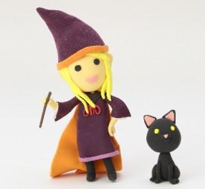ハロウィン手作り魔女